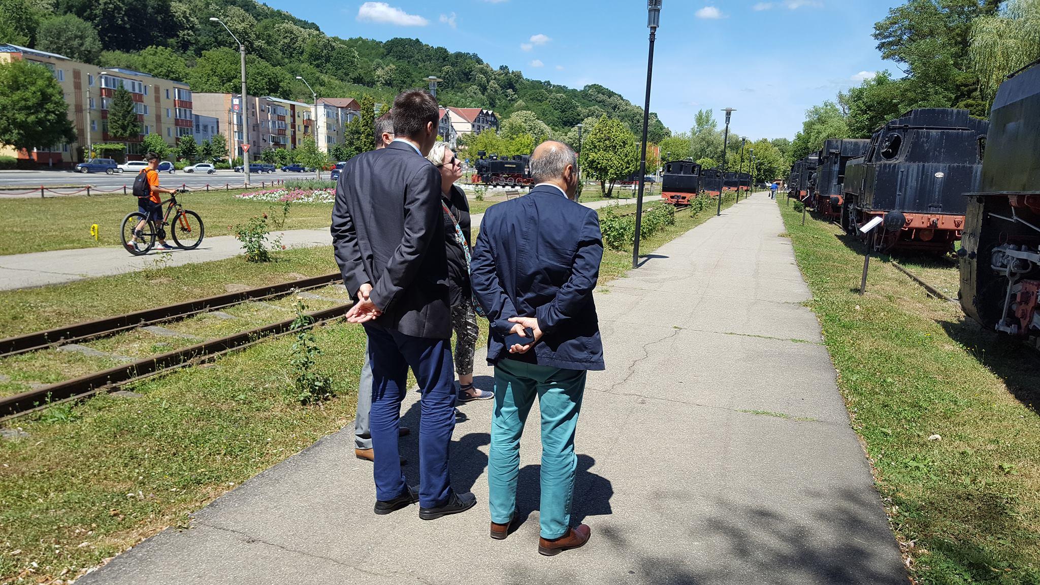 Delegatia PESA in vizita la Muzeul de Locomotive Resita