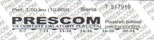 Bilet Calatorie, PRESCOM, Autor: Catalin Ghita, TRANSIRA.RO